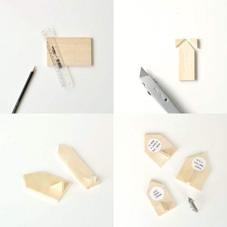 how to make wooden house advent calendar