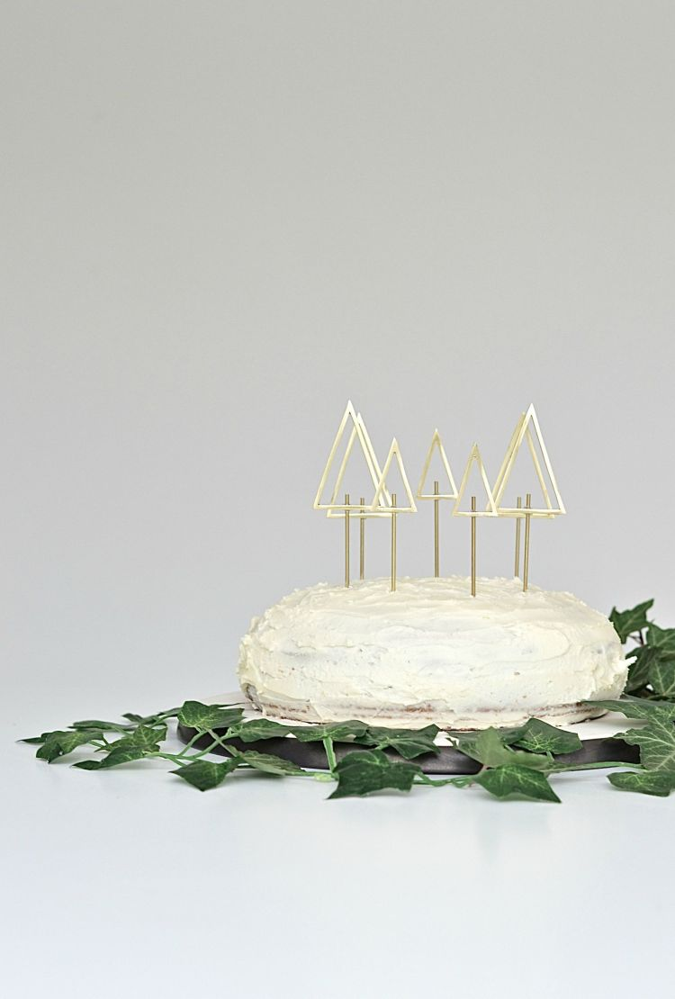 christmas tree wedding cake toppers simple and chic diy tree cake toppers diy home 12831