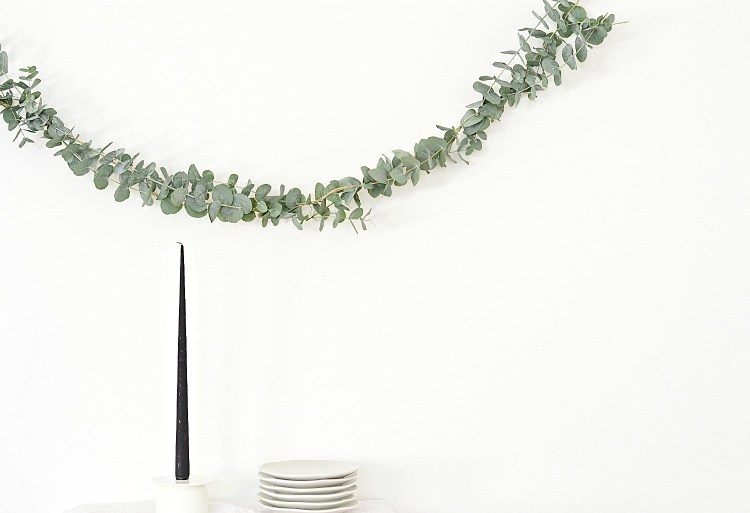 fresh eucalyptus garland diy