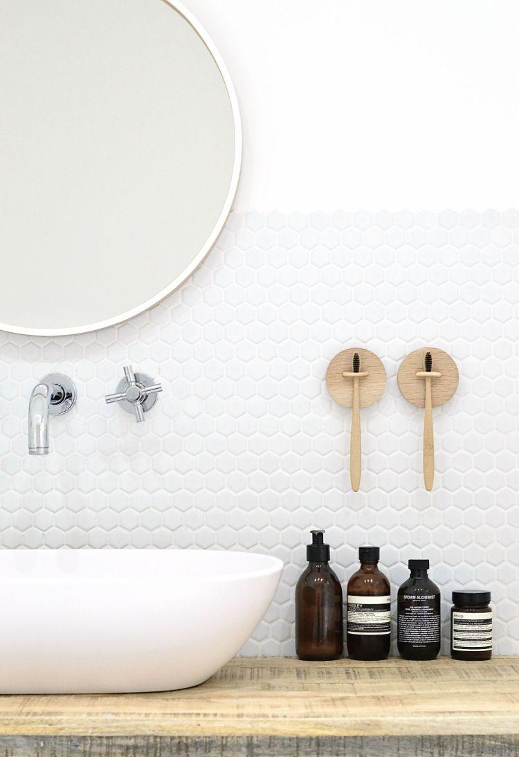 diy wall mounted toothbrush holder