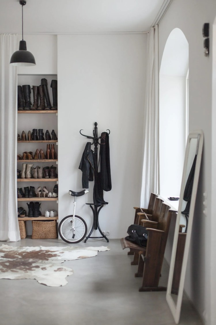 entrance hall shoe storage