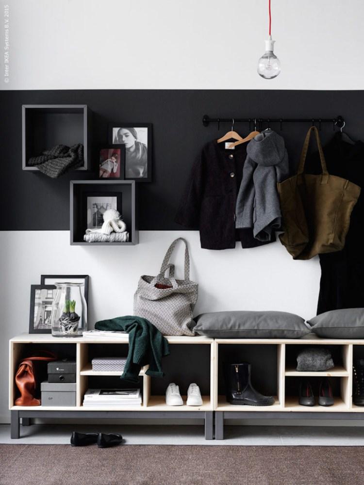 entry hall storage ideas family