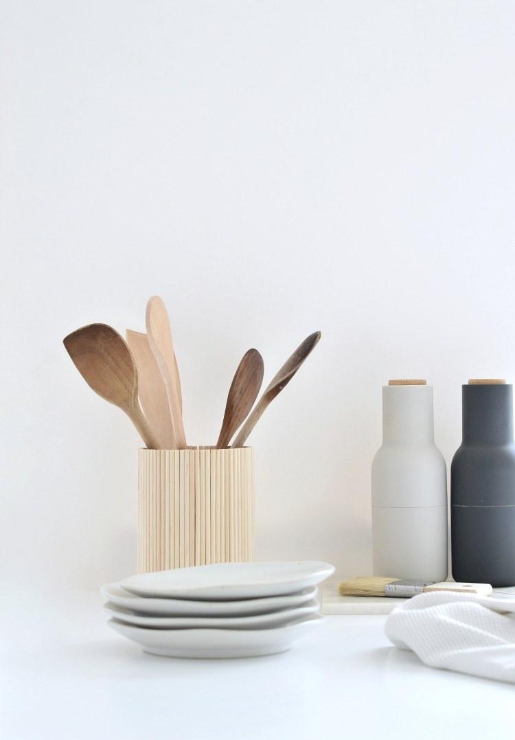 diy wooden utensil holder ikea hack