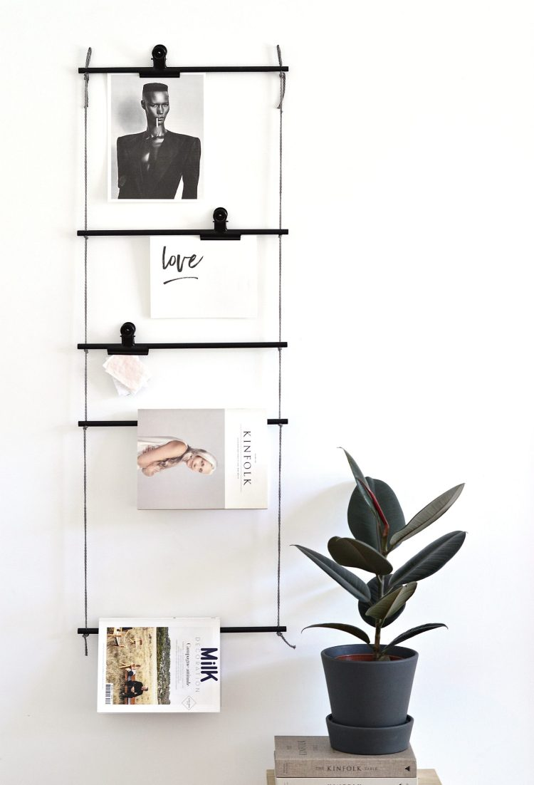 diy hanging ladder decoration