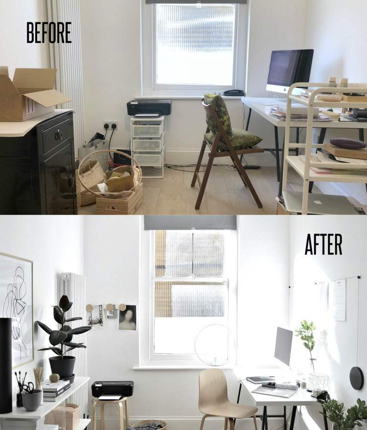 home office decor before after pictures
