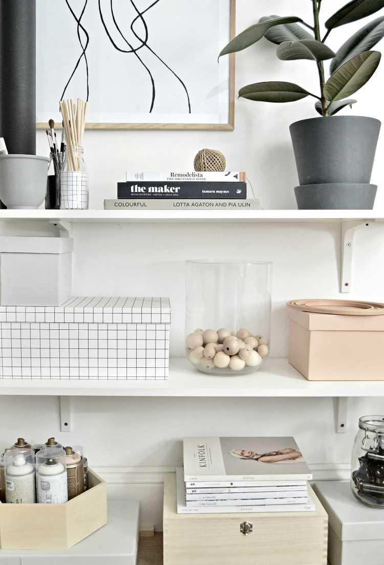 home office shelf organization