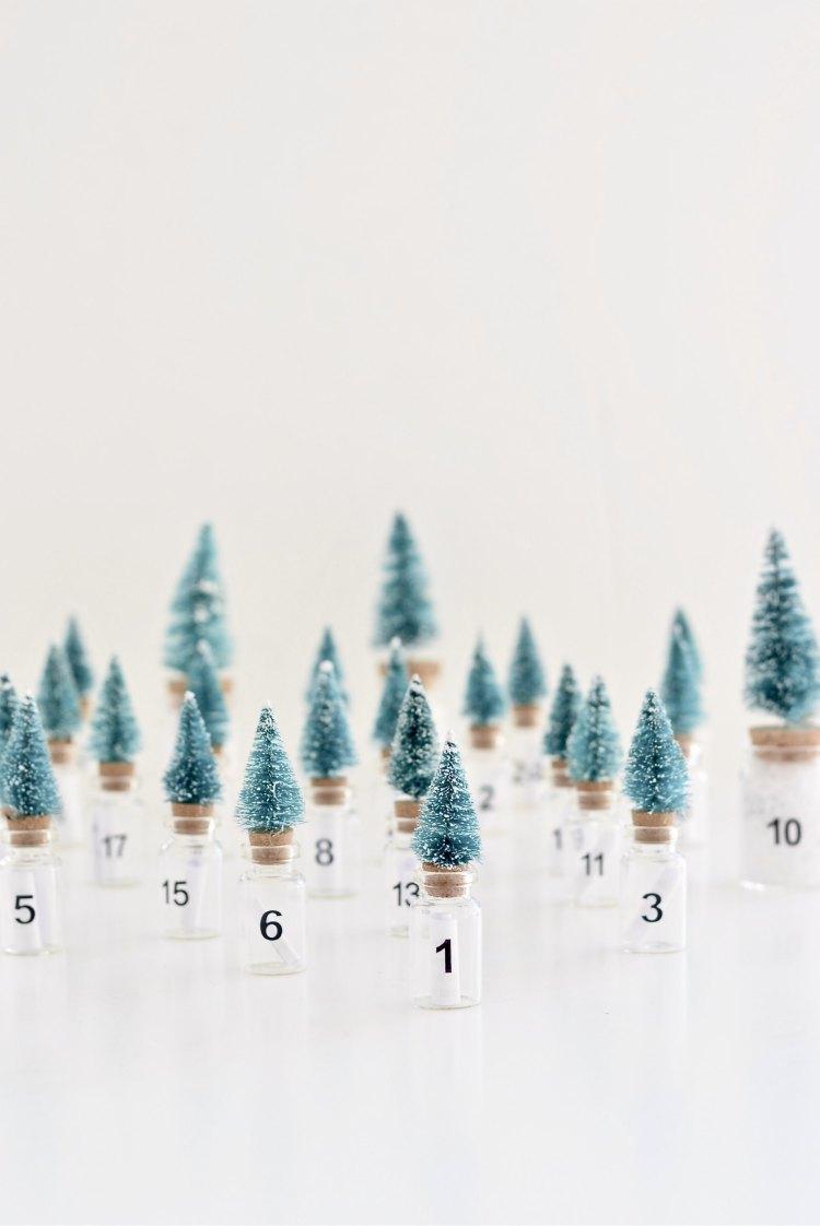 DIY Christmas tree advent calendar