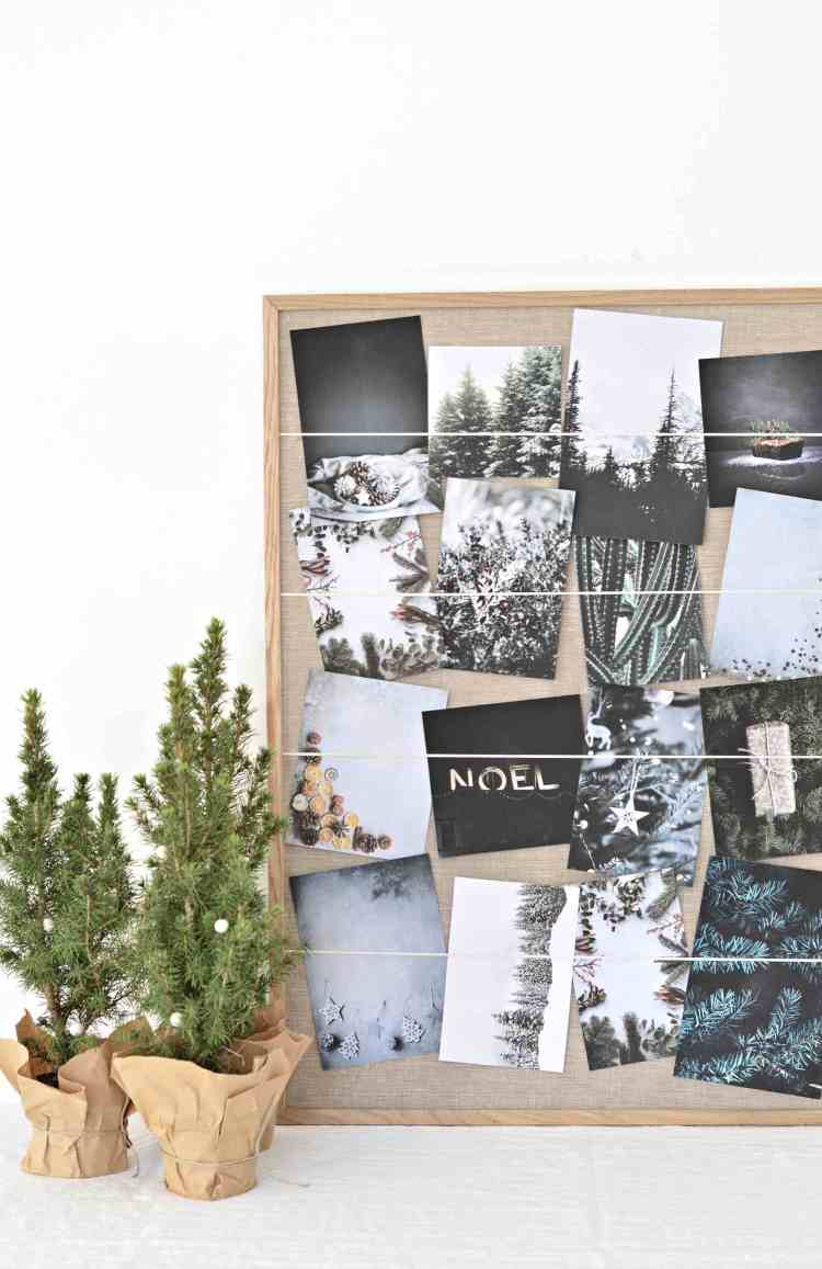 Turn an old picture frame in to a diy Christmas card holder – OBSiGeN