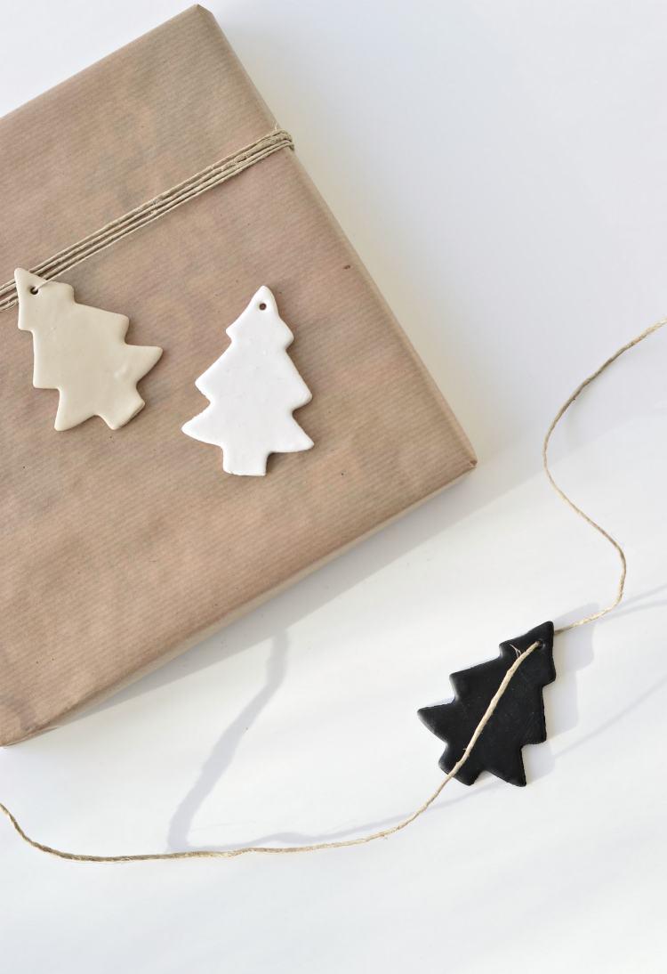 diy clay Christmas tree ornaments
