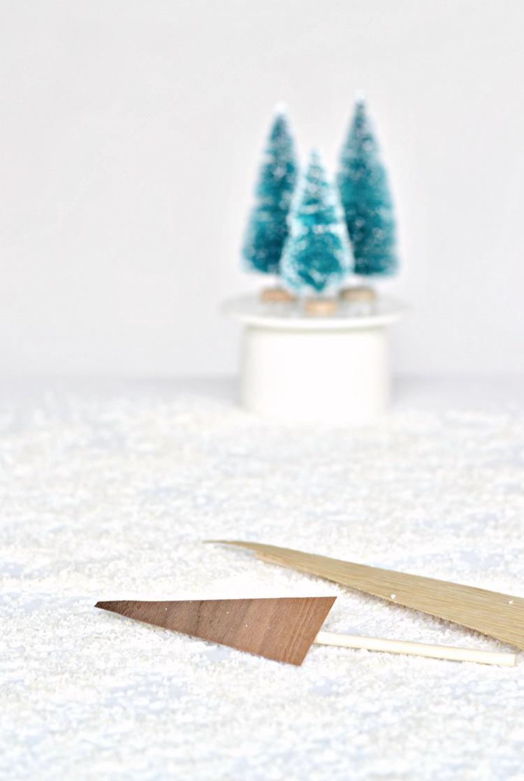 minimal Christmas cake topper