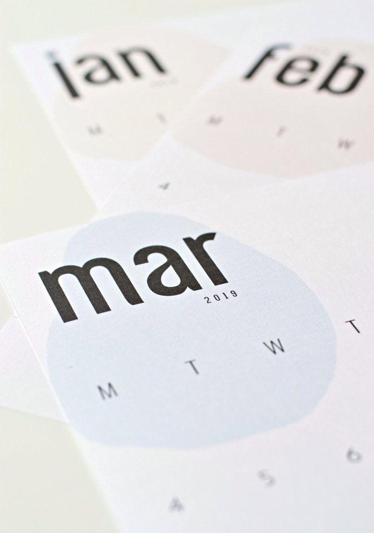 your diy family printable 2019 calendar