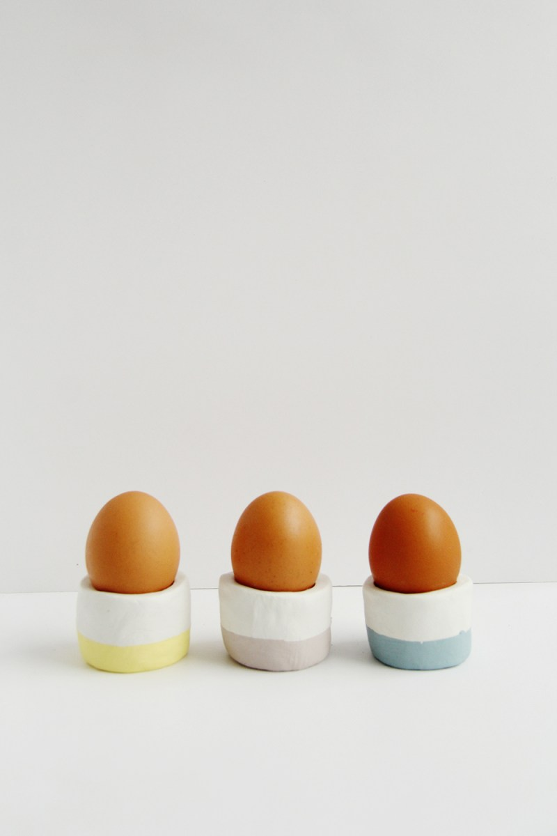 DIY egg cups air dry clay crafts
