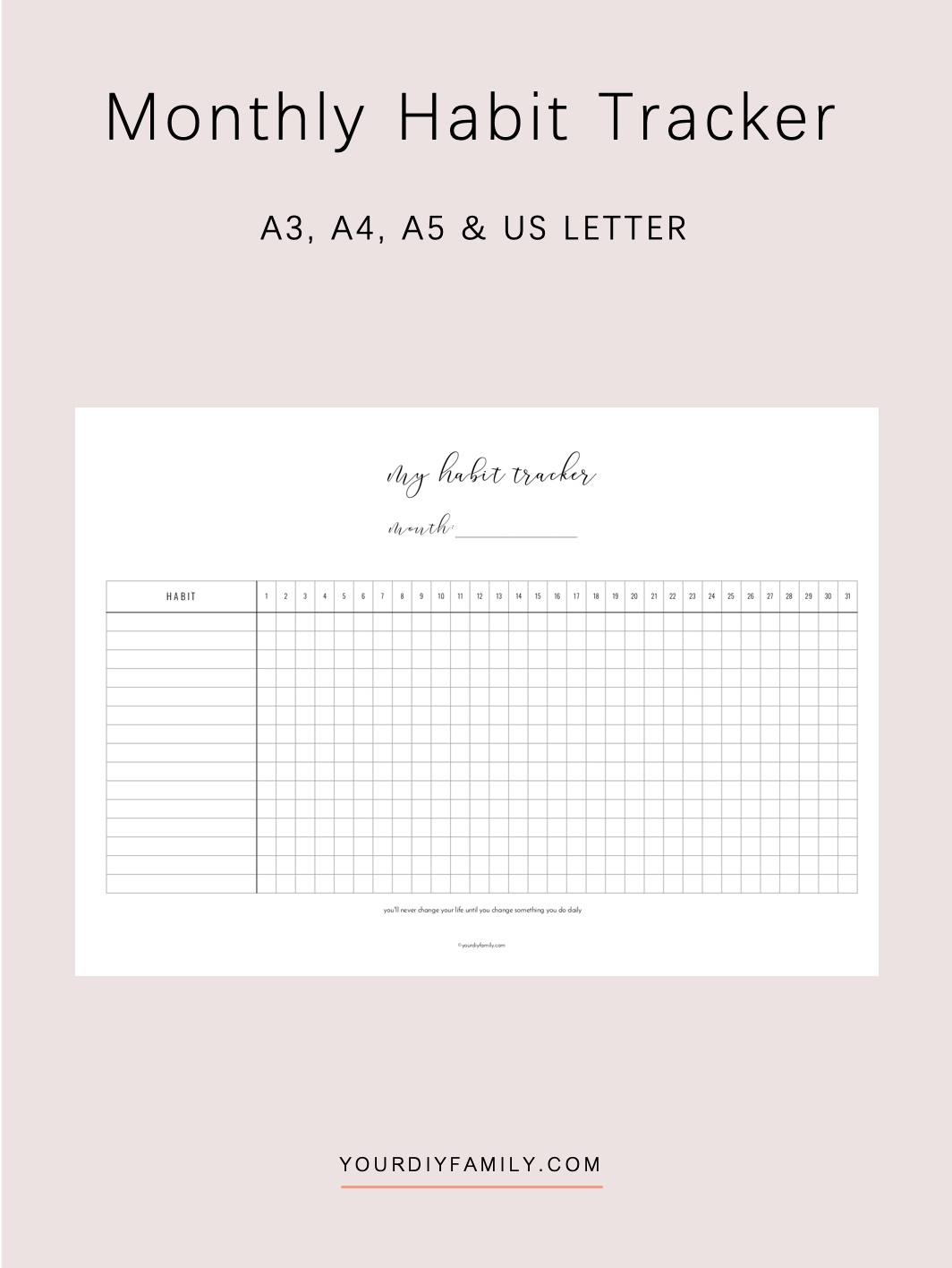 Printable Habit Tracker How To Make Your Good Habits Stick