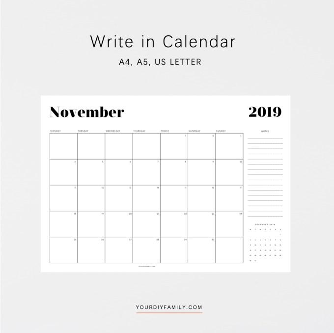 printable calendar printable
