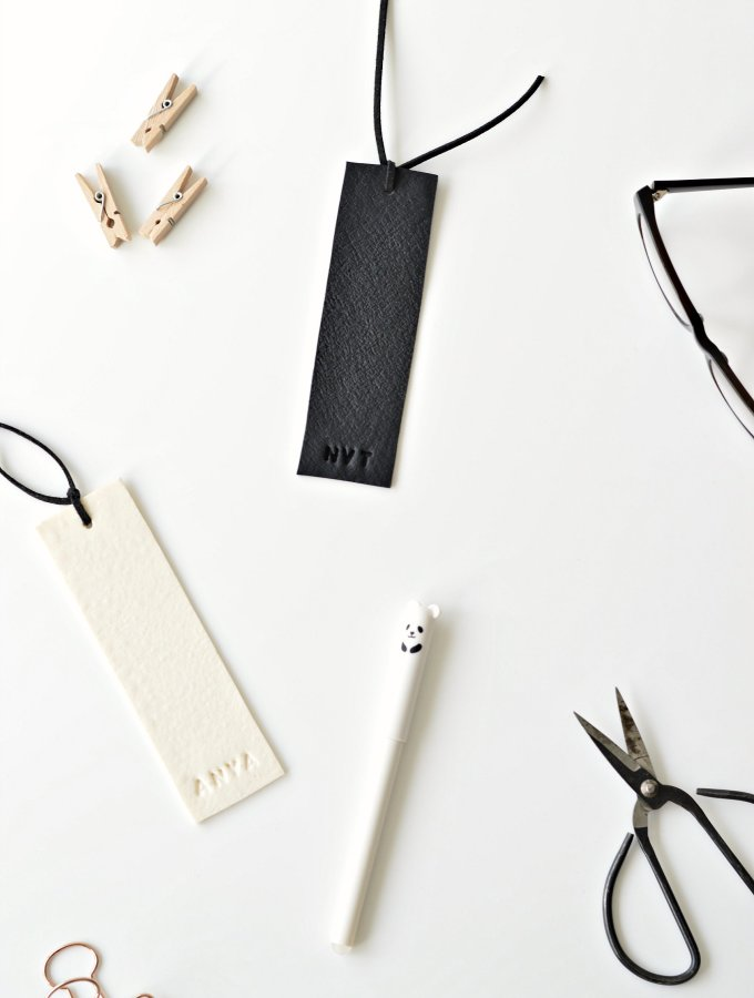 Lets get personal: DIY personalised bookmarks in (faux) leather