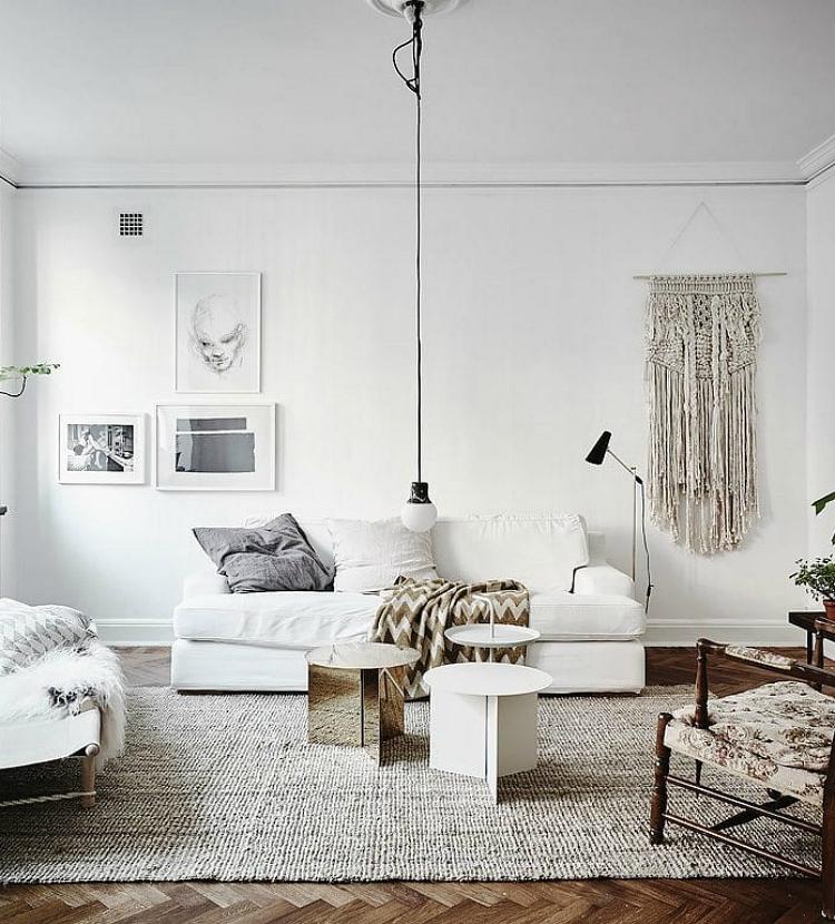 off center wall decor