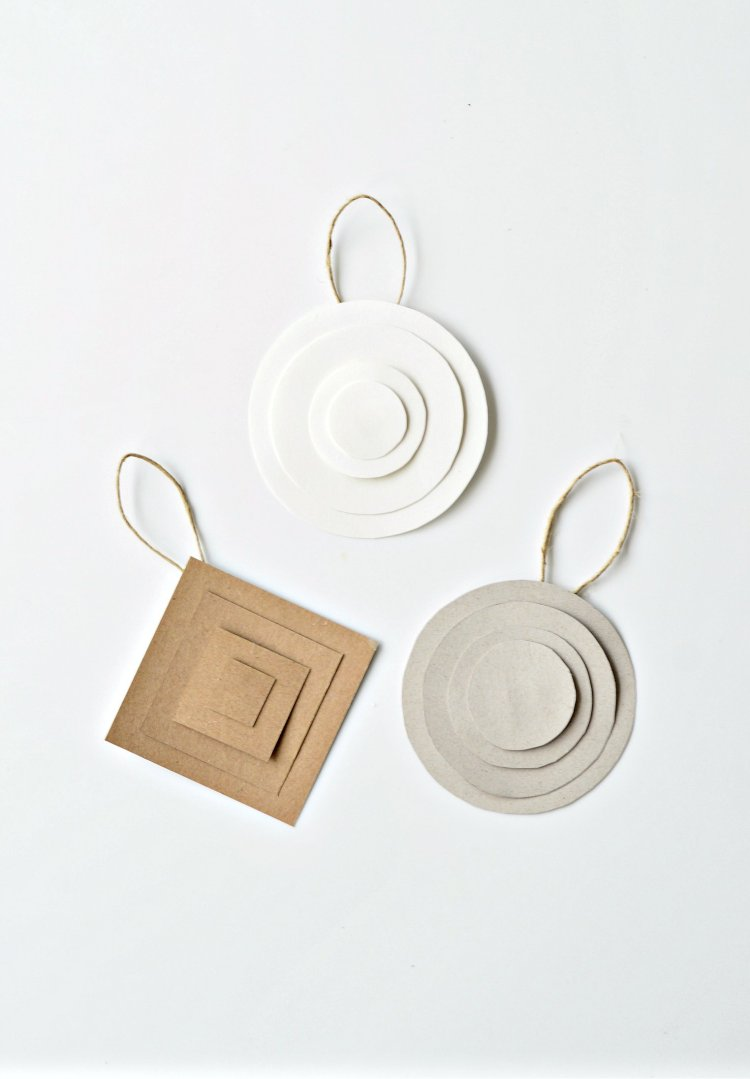 modern minimalist Christmas ornaments