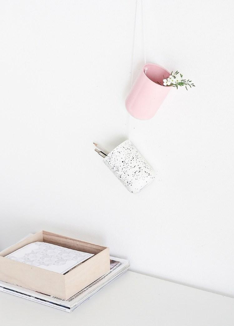 DIY Hanging desk organizers