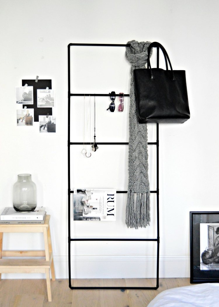 DIY accessory organizer ladder