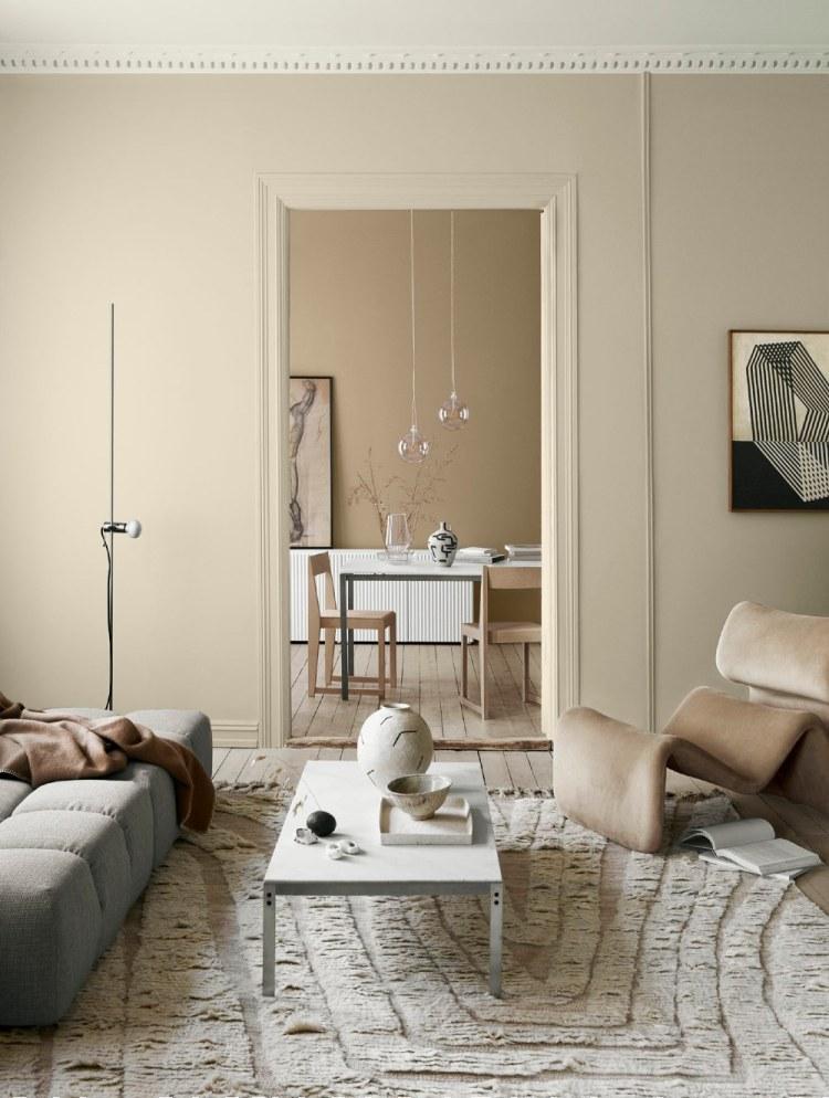 neutral living room colours not white