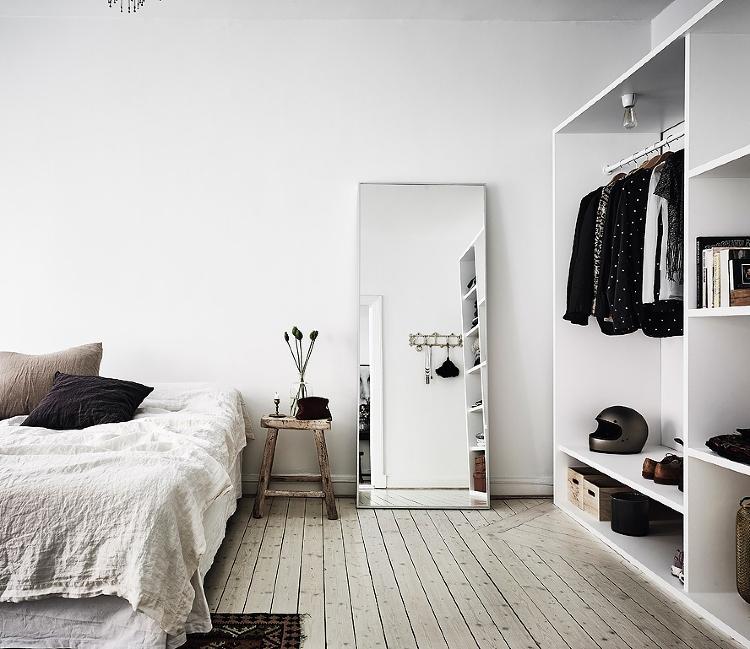 open wardrobe idea for bedroom