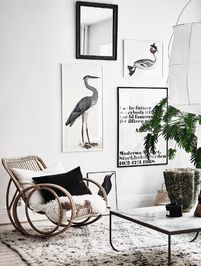 Home tour | Bright white apartment with vintage accents