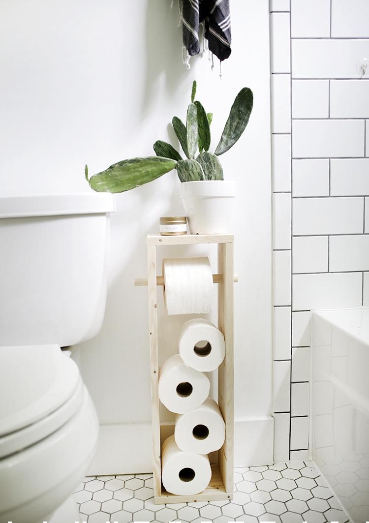 diy toilet paper holder stand