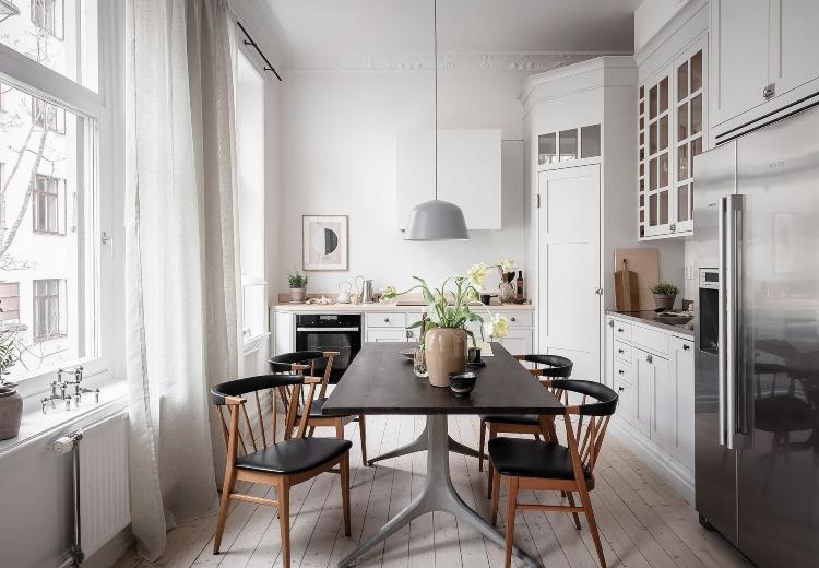 small white Scandinavian kitchen