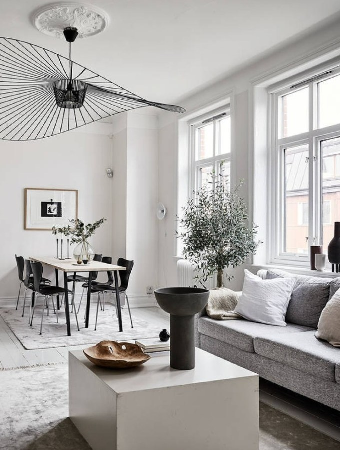 Home tour   a warm and cosy home with black and white decor