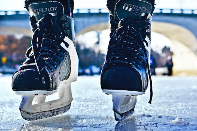 hockey skates - gender equality in sports