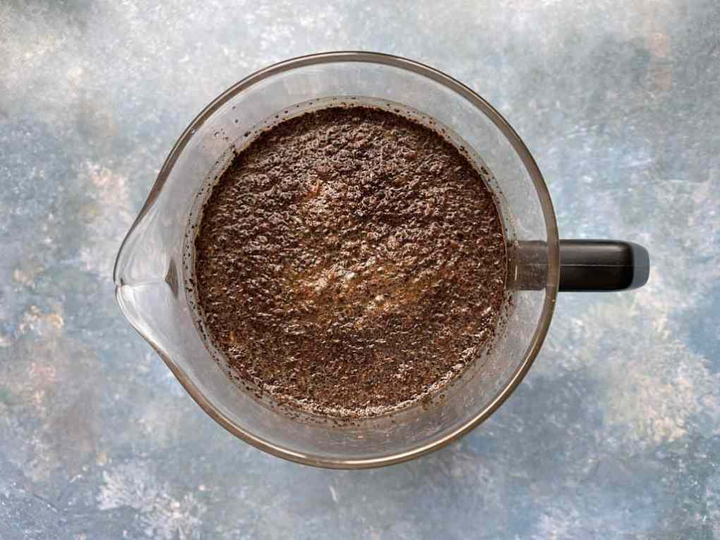 Cold brew coffee steeping.