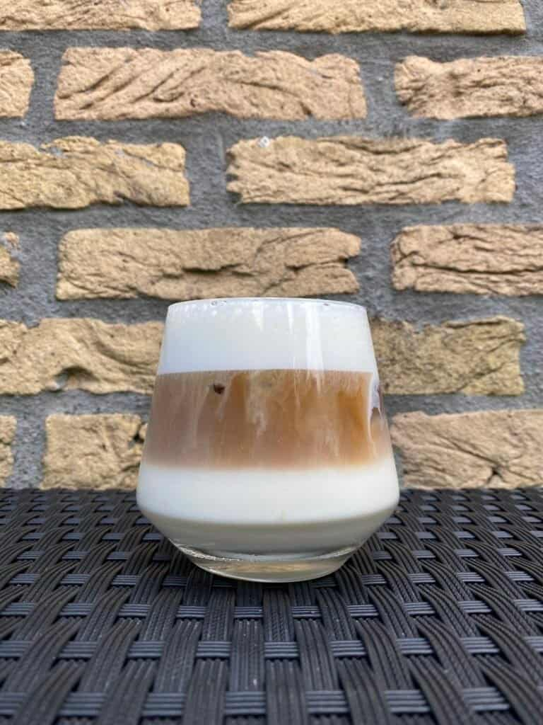 A homemade iced cappuccino.