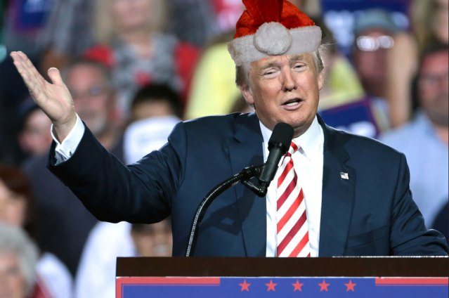 Trump threatens North Pole after going 18 years without a single present from Santa