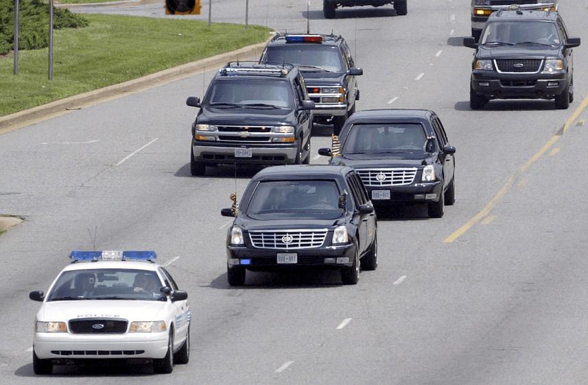 27 cars nearly crash into president trump motorcade alabama today