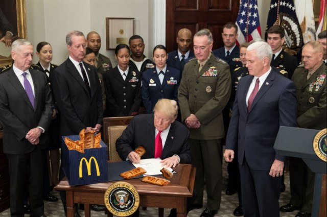 Trump Eats 17 McDonald's Apple Pies for Pi Day