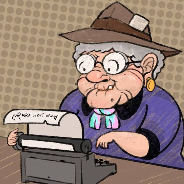 Journalist Grandma You Ready Grandma Typewriter laptop sticker