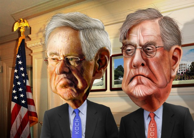 Officials warn liberals that a 2nd active Koch Brother is still at large