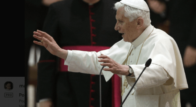 Retired Pope Benedict breaks silence on blue balls, wet dreams in Church life, and nobody wants to hear it