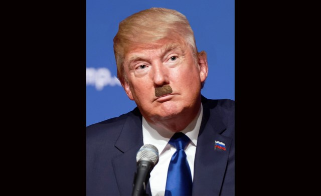Trump Sports New Hairstyle, Grows Trendsetting Mustache For RNC