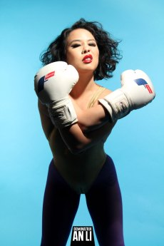 Boxing, beating, and generally terrorizing submissives is a particular joy for this Femdom Mistress. By Blackula.