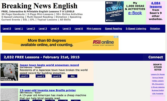 useful esl websites 2 - breakingnewsenglish