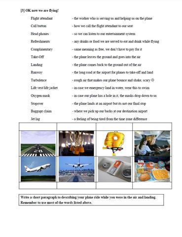 Vocabulary Lesson Page