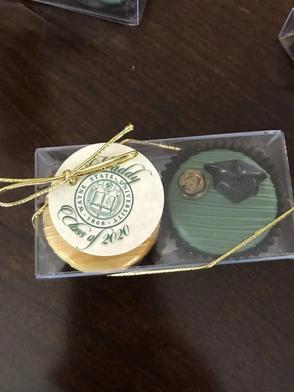 high school graduation cookie favors