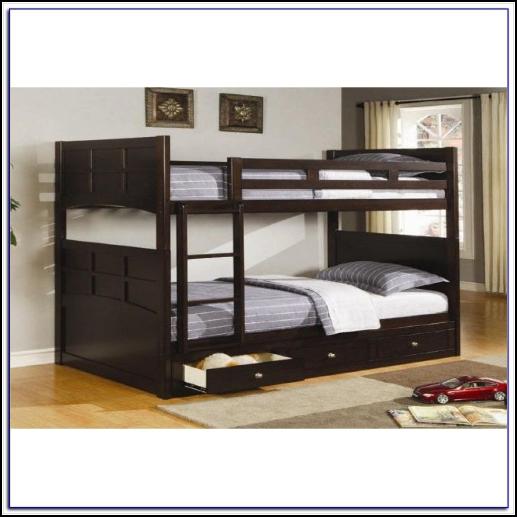 Black Twin Bed With Drawers Underneath