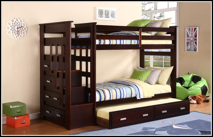 Bunk Bed Trundle With Stairs