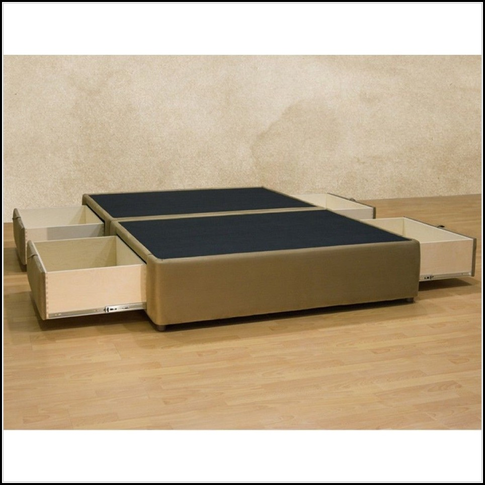 Cal King Platform Bed Frame With Drawers