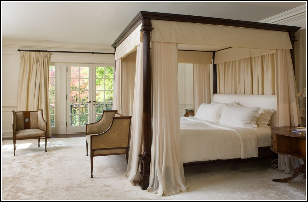 Cheap Canopy Bed Curtains