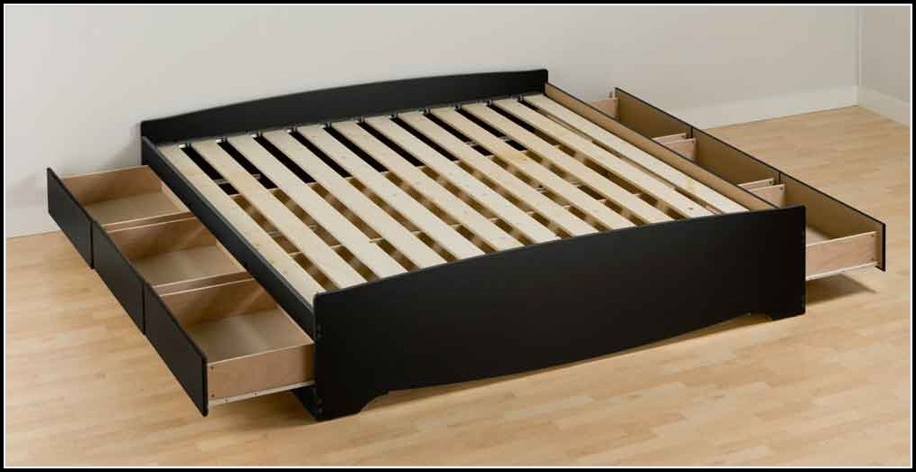 King Bed Frame With Drawers