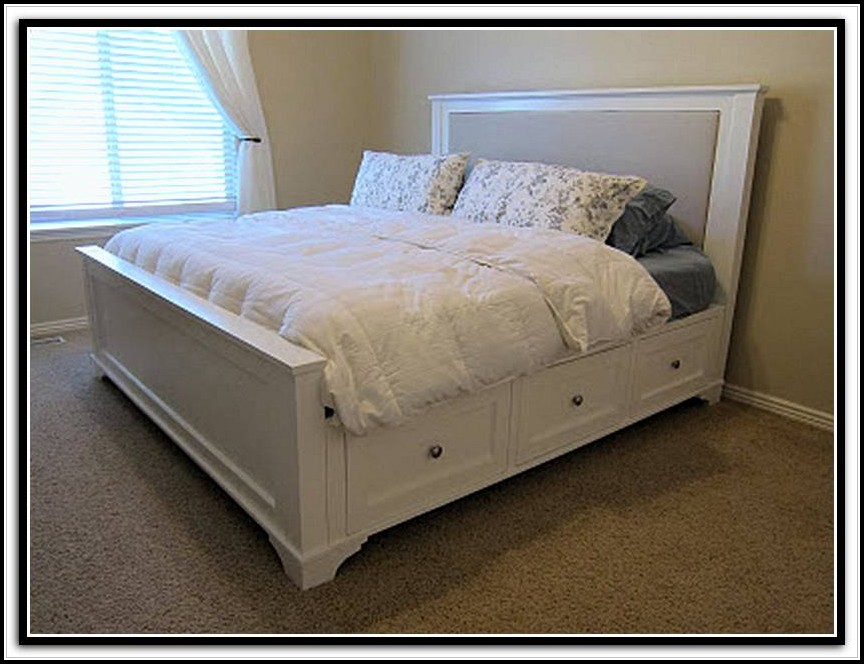 King Bed Frame With Storage Canada