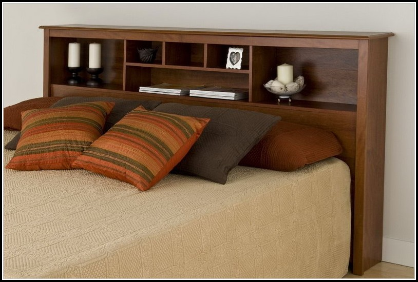 King Size Bed Headboard With Shelves